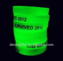 New wristbands silicone Custom wristband bracelet glow in the dark