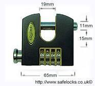 Squire 65mm Combination padlock