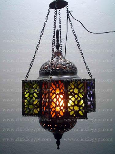 Ägyptische islamische im Freien hängende Messinglampe BR36