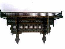 W123 Antique Style Handmade Arabian Wall Wood Shelf Console