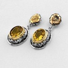 A23041Z Silver & Gold Earrings