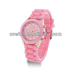 Hot Sale Fresh Fruity-Color Silicone Band Men Lady Teens Jelly Sport Wrist Watch