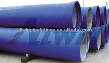 ductile ion pipe with blue epoxy coating