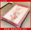 Polyester flower pattern printed fleece&blanket