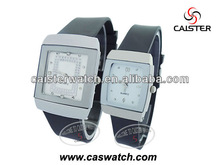 Promotion lover watch cheap gifts lovers watch quartz watch CE ,Rohs leather strap