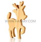 Laser Cut Reindeer wood craft - Christmas Wood Ornament