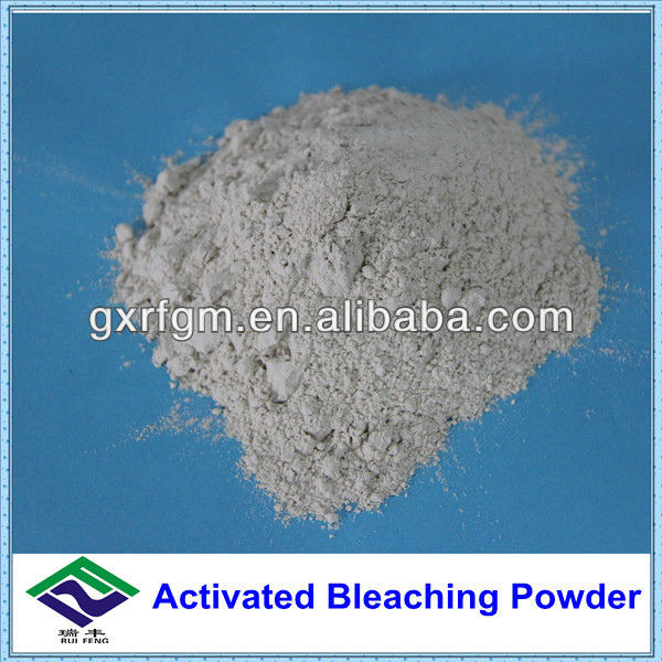 Activated bleaching powder for gasoline