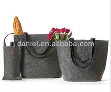 new age happy family design fashion felt tote bag