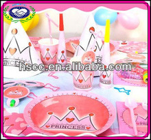 Hot Sale Pink Princess Theme Birthday Party Supply and Favor