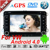 2 din in-dash android car dvd car pc with wifi 3g for VW