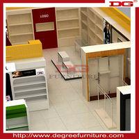 High quality island gondola shelf for retail clothing store furniture