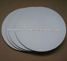 10inch round white waxed cake circles