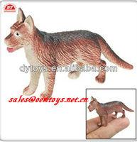 Mini Plastic Wolf Figure Children Toys, plastic animals hard toys