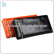 Quality oil leather branded wallet