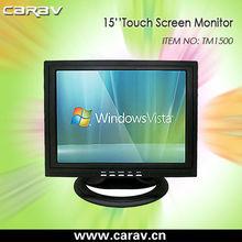 15 inch plastic case VGA/HDMI/DVI POS touch monitor