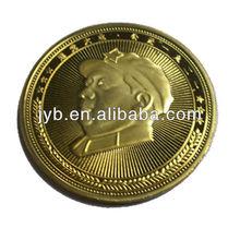 Wholesale Gold Plated Metal Souvenir Coin of Chairman Mao Portrait
