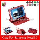 For Samsung Galaxy Note 8.0 N5110 N5100 leather case,leather case for Samsung Galaxy note 8.0 N5110,Red