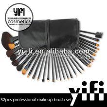 Pro 32pcs Makeup Brushes Set High Quality Blush Leather Case, mini makeup brush kit