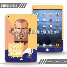 Football star design ipad mini skin sticker case factory
