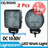 12v led light 18w Round off road vehicle 4x4 truck lights
