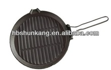 Cast iron skillet/ fry pan with steel handle