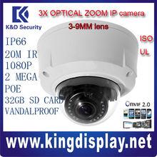 IPC-HDBW3202 cheap price DAHUA IP CAMERA 3X optical zoom Motorized lens ip66 vandalproof onvif2.0 CCTV dome