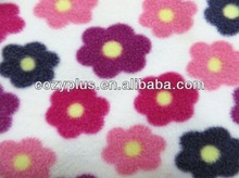 2013 China Factory wholesale 100% Polyester Fabric FDY Polar Fleece shining stripe