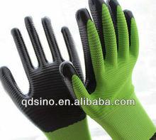 13gauge zebra polyester with nitrile coating glove U3 glove