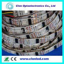 5m/roll addressable led strip,5v ws2801 IC,32LEDs/m 5050 RGB,silicone tube