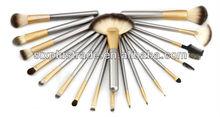 Promozione sintetico manicoin legno spazzola cosmetica set/set spazzole