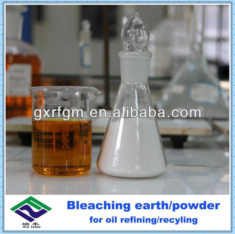 Bleaching powder for gasoline refining/recyling