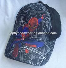 Spider man printed sports cap baseball cap
