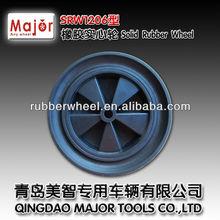 12*2 solid wheel ,rubber solid wheel barrow wheels
