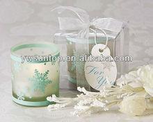 Snowflower pattern small glassTea Light Holder Favors wedding decoration gift