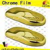 Gold chrome cover wrap vinyl film for renew used car / chrome vinyl car warp / Size: 1.52*30m
