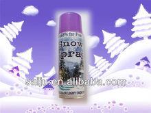 250ml aerosol party flying Snow Spray for glass