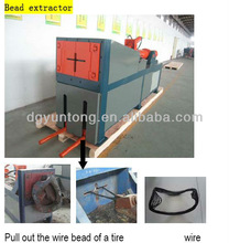 steel wire remover / bead wire remover / waste tyre recycling machine