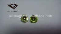 Apple Green bead shaped cubic zirconia good polished dazing shining precious gemstone