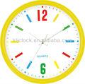 china relógio de parede moldura amarela linda