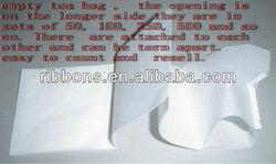 empty biodegradable tea bag paper