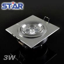 High Power 110V 3*1W 92X92mm white 6000-6500K led downlight