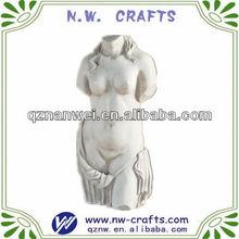 Plaster lady torso statue art gift crafts