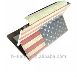 smart card pu leather flag for ipad mini shell