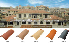 foshan red clay roll roofing tiles made in China