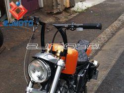 """Black Drag 1"""" Z Bars Motorcycle Pullback Handlebars For Harley Custom Chopper Bobber """"hi"""" barbe rack inch dent existence"""