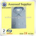 De alta calidad camisa de hombre sólido/raya camisetas de algodón