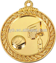 Gold basketball of 5 cm sports metal medal