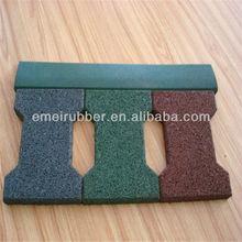 rubber driveway/ rubber brick(EN1177, SGS, IOS9001:2000)