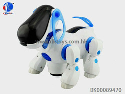 Hot Sell B/O Walking Robot Dog With Music & Light