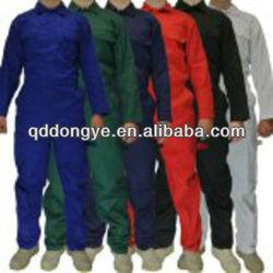 China unisex TC65/35 or 100% cotton fire retardant coverall